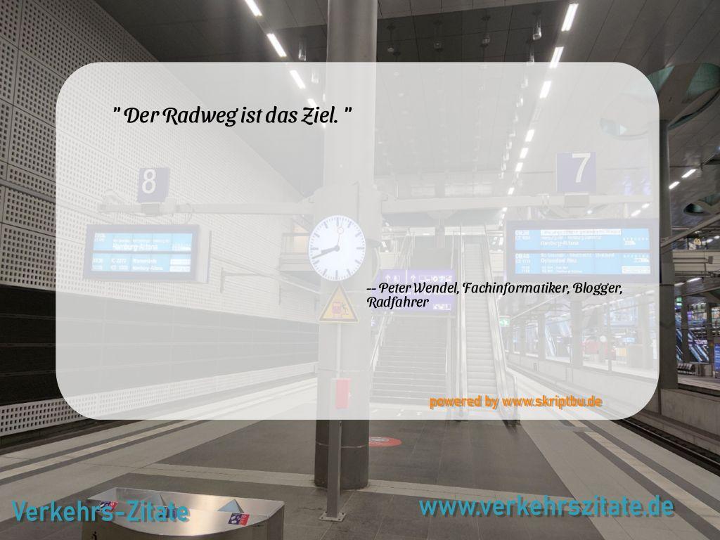 Der Radweg ist das Ziel., Peter Wendel, Fachinformatiker, Blogger, Radfahrer